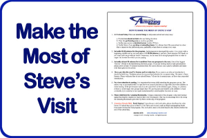 Make the Most of Steve's Visit